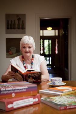 Stephanie with books