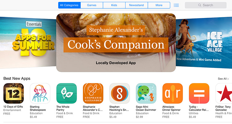 The Cook's Companio App has been featured in the App Store