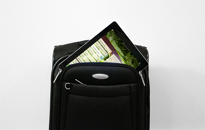 Suitcase with iPad